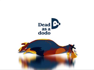 Deadasadodo - Animation vintage retro colorful motiongraphics motion graphics motion graphic motion art motion design motion animal blender3d blender 3d 2d animation bird icon bird logo bird animation bird dead dodo