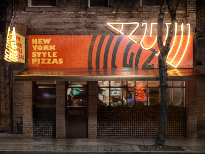 ANGLE PIZZA - Restaurant 3D render new york pizza logo pizza restaurant brand branding design brand identity branding brand design restaurant branding brand restaurant blendercycles blender3dart blender 3d illustration blender blender3d 3d