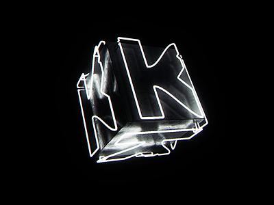 Krankal neon loop 3d art motion design motion graphics motion animation black blender 3d blender3d neon light neon lights neon k