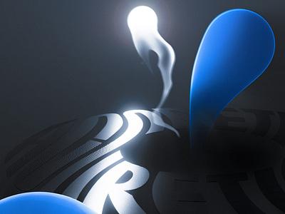 ACCRETION - POSTER & GIF 1 space design space design 3d art motion graphics motion blender blender3d 3d