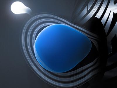 ACCRETION - POSTER & GIF 2 blender3dart space design space planet planets motion graphics motion blender blender3d 3d