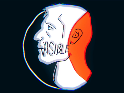 VISIBLE - INVISIBLE 2D animation blender head invisible visible 2danimation 2d art animation 2d face