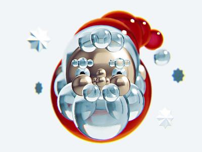 Santa Claus Balls animation 3d animation 3d art blender3d minimalistic art minimalistic blender 3d merry christmas merrychristmas merry xmas santaclaus santa