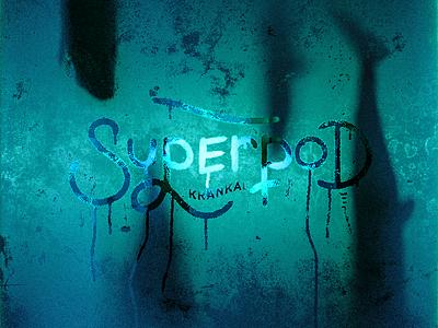 Superpod texture material glass customfont logo branding typography spermwhale design blender3d blender 3d illustration