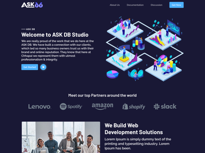 Dark UI Landing Page Design ui design dark theme dark ui illustraion figma userinterface uxdesign uidesign dark web ui  ux typography illustration mockup uiux branding ux ui design