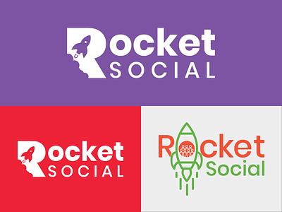 Rocket Social Logo graphicdesign graphic logodesign color palette rocket logo logo design social rocket logo uxdesign uidesign ui  ux web typography illustration uiux branding ux ui design