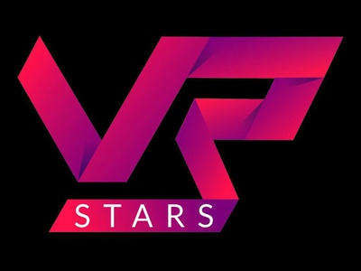 VR Stars Logo Design icon web branding illustration vector typography design logo stars vr
