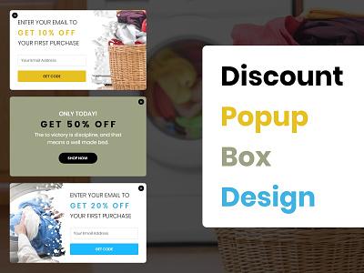 Discount Popup Box Designs ecommerce mockup illustration website typography web branding design box popup discount uxdesign uidesign uiux ux ui