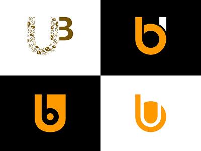 UB and BU Monogram Logo Set bu ub button design branding illustration typography logo design monogram logo ux  ui ux design uxdesign ui design ui  ux uxui ux uiux ui