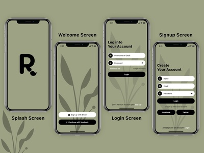 R App Screens