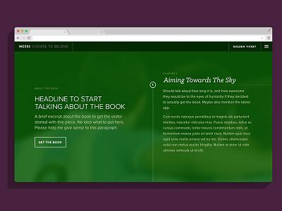 Messi - landing page landing book flat ui