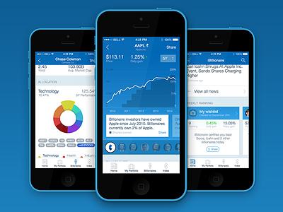 iBillionaire iOS App app ios finance chart graph ui ux table ibillionaire