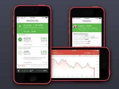 iBillionaire - Explorations ibillionaire table ux ui graph chart finance ios app