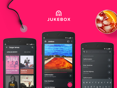 Jukebox for Android flow add search player grid material design app android collaborative playlist jukebox