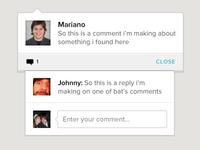 Comment widgets