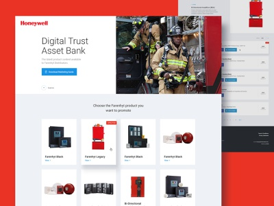 Honeywell Website shop store ecommerce emergency protection firefighter flame minneapolis minnesota mn ui web design website product safety alarm fire honeywell