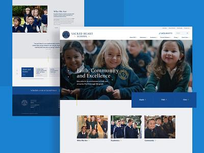 Catholic School Website student academic religion education web design ui web website college minneapolis minnesota mn elementary school kindergarten private school university school