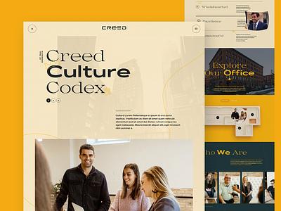 Creed Culture Codex Website minneapolis minnesota mn web design web culture agency interaction design office careers team studio website landing page