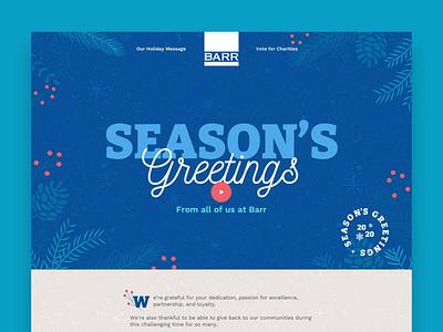 Company Holiday Site landing page snow season winter ui minneapolis minnesota mn christmas greetings holiday web design website
