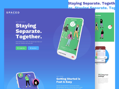 SPACED | Social Distancing App social distance social distancing ui video motion product design landing page web website web design minneapolis minnesota mn app covid-19 coronavirus pandemic