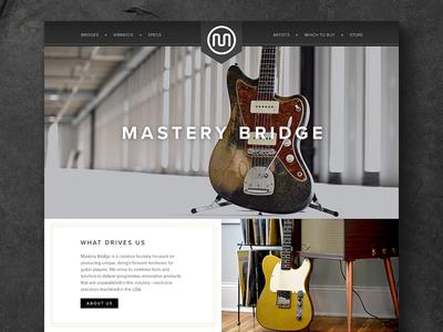 Mastery Bridge Guitar Hardware Website