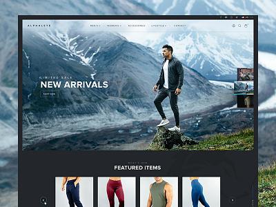 Alphalete Website | Christian Guzman fashion ecommerce website gym clothes ux fitness apparel store alphalete athletics shop ui christian guzman youtube