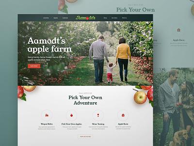 Apple Orchard Website fruit alcohol tasting landing family cider drinks outdoor food recipe ui vineyard wine tasting apple orchard farm website