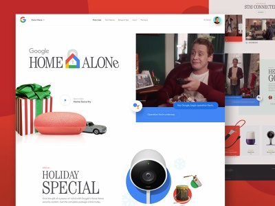 Google Home Alone tech store landing xmas santa presents christmas holiday shop minneapolis minnesota mn home alone movie microsoft nest products winter google ecommerce mockthehalls mock the halls