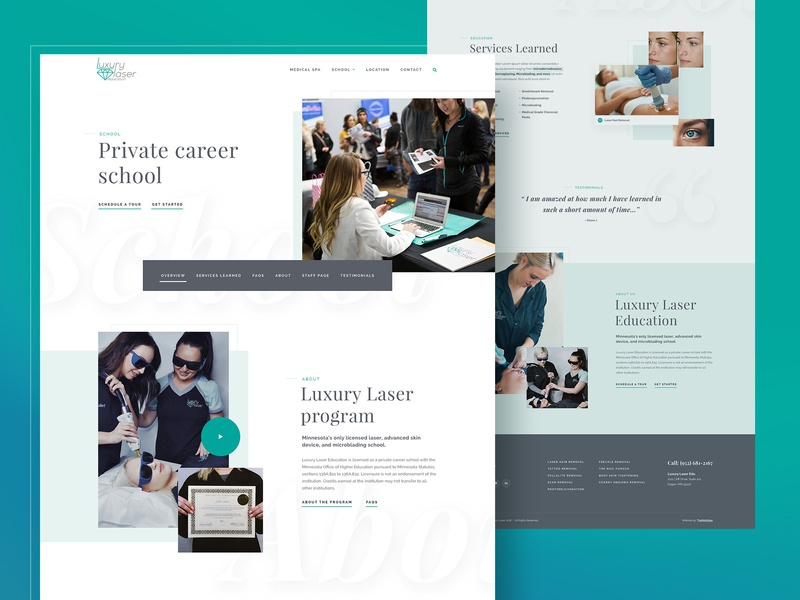 Medspa & School by Mike Delsing on Dribbble