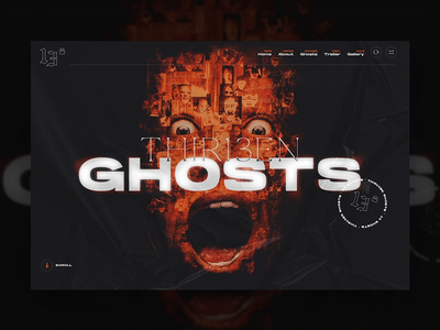 13 Ghosts grunge spooky interface 13 ghosts thirteen ghosts film horror scary landing monster product design web design ui website mn minnesota minneapolis mocktober