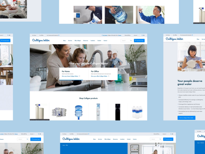 Culligan Water website web design web water bottle testing softener product minneapolis minnesota mn maintenance liquid interaction drink cooler animation