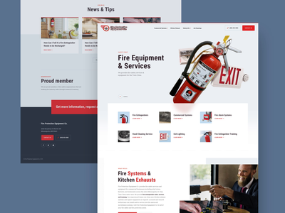 Fire Protection Homepage interaction animation interface ui web equipment emergency minneapolis minnesota mn protection product design web design website landing safety alarm extinguisher fire