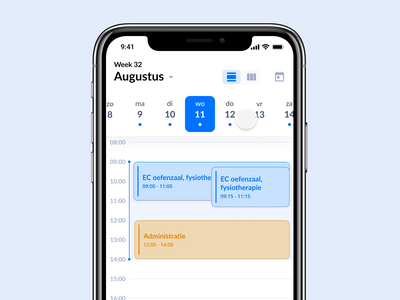 Daily Dispatch 001 – Roosterplatform3-day and month view days day schedule calendar app ux ui