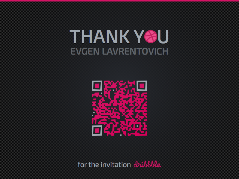 Hi! black purple flat first shot invite russia invitation first qr thank you hello debut