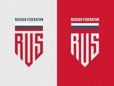 Rusia Badge russian federation red logotype logo chevron stripe rebound badge rus ru russian russia