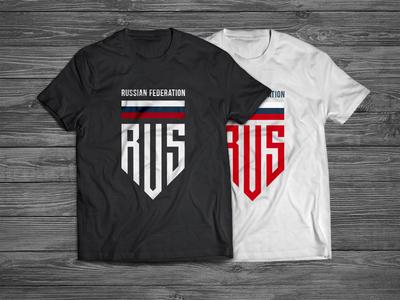 T-Shirt Russia Badge russian federation t-shirt dress stripe russian rus ru logotype logo badge russia