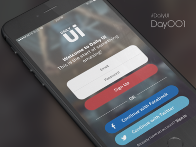 DailyUI Day 001 - Sign Up russia rus interface mobile app design ui sign up dailyui 001