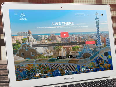 Daily Ui 003   Landing Page | Airbnb redesign landing page video form ui russia web concept airbnb landing redesign 003 dailyui