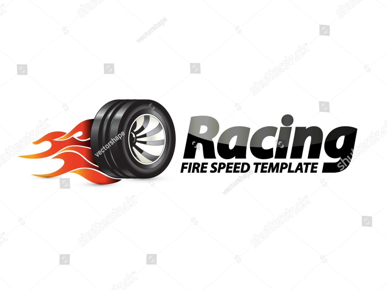logotype burning wheel by Vectorshape | Royalty Free Vector