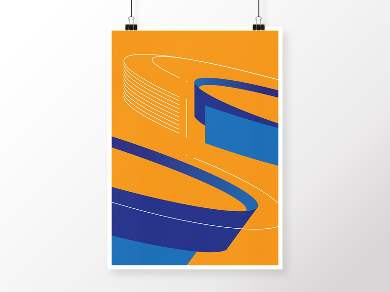 Geometric Composition 3 lines navy ships ship yellow orange design round geometric art geometric blue art modern poster minimalistic illustration digital homedecor graphicdesign abstract