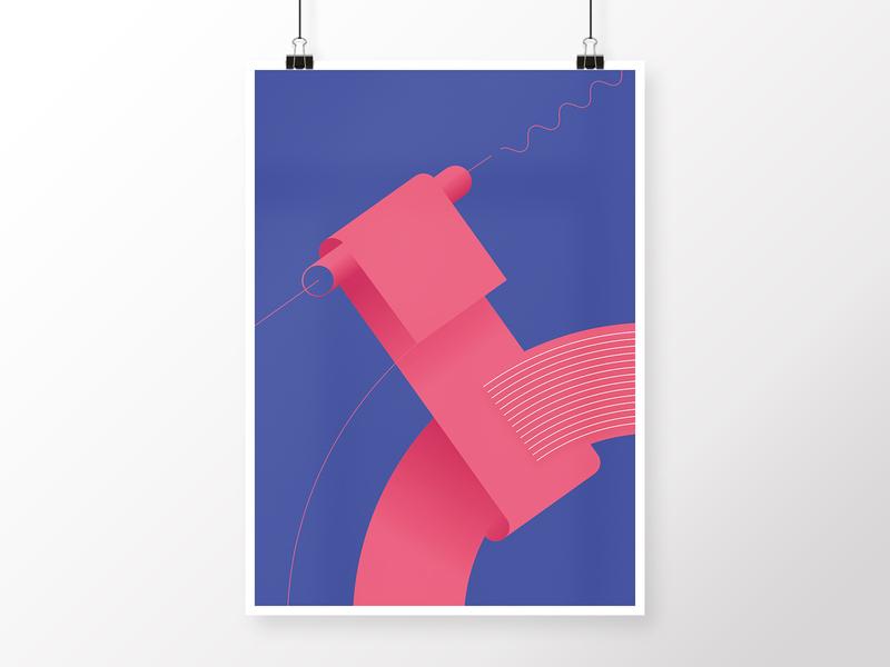 Composition 4 vector pink design blue round geometric art poster modern minimalistic homedecor geometric art digital graphicdesign abstract