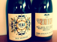 Year Wines - bottles printed