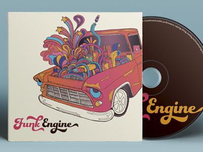 Album art illustration music digital album funk 70s disco psychedelic