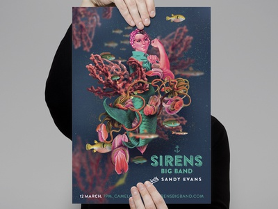 Sirens Big Band gig poster