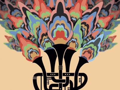 Fat Yahoozah poster trumpet music illustration gig poster