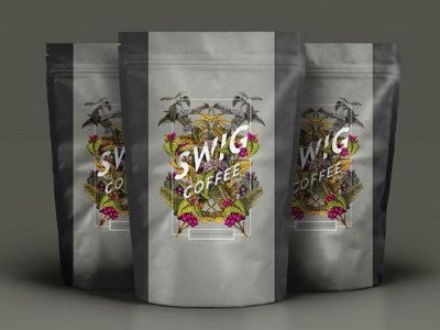 Swig Coffee label option 2 typography lettering label packaging coffee roasters coffee