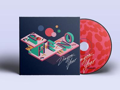 Pheno Album band musician music isometric vector illustration album art album