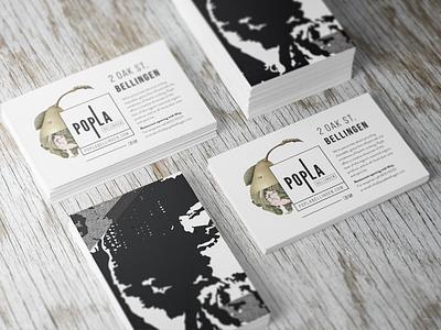 Postcards food vegetables restaurant botanical identity branding digital collage print design