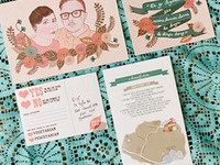Completed wedding stationery