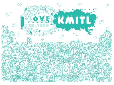 Doodle at KMITL charecter design illustration cartoon cartoon illustration doodle
